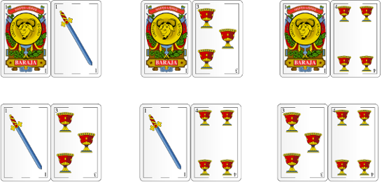 Possibles combinations of cards